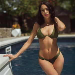 Other - NWT Wire Bikini Olive Green